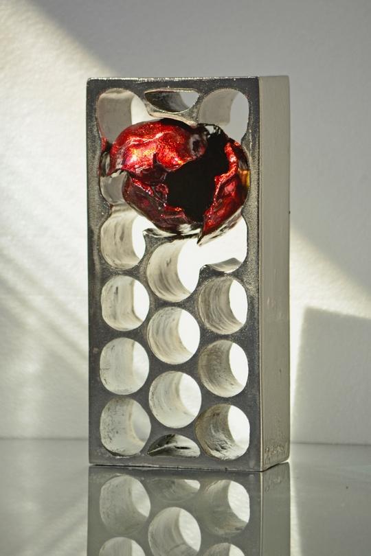 Corazón roto - Aluminio+lacado (23x10,5x11)
